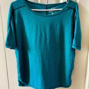 Green/blue Fox trudri t-shirt size M.